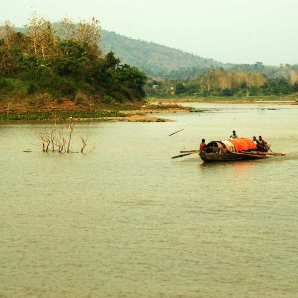 Boats at Kaptai Lake, Rangamati