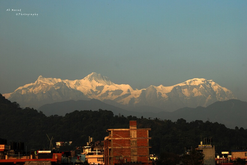 The Himalaya from the pokhara
